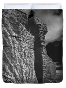 Rock Climber Monochrome Landscape  Duvet Cover