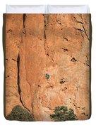 Rock Climbers  Duvet Cover