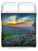 Rock Climbing At Ravens Roost Duvet Cover