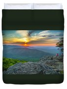 Rock Climbing At Ravens Roost Pano Duvet Cover