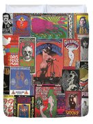 Rock Concert Posters Collage 1 Duvet Cover