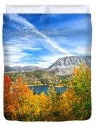 Rock Creek Lake Fall Panorama Duvet Cover