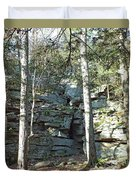 Rock Formation 3 - Ricketts Glen Duvet Cover