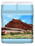 Rock Formation Of La Sal Mountains Duvet Cover