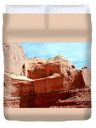 Rock Formation Of Red Sandstone Arches National Park Duvet Cover