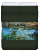 Rock Formations In The Sea, Bird Rock Duvet Cover