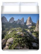 Rock Formations Montserrat Spain Duvet Cover