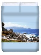 Rock Formations On The Coast, 17-mile Duvet Cover