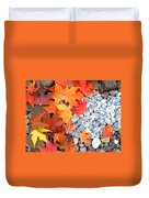 Rock Garden Autumn Leaves Duvet Cover