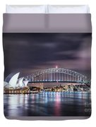 Rock Into The Night Duvet Cover