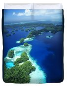Rock Islands Aerial Duvet Cover