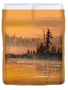 Rock Lake Morning 3 Duvet Cover
