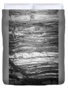 Rock Lines B W Duvet Cover