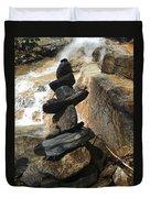 Rock Monument At Jones Gap Falls II Duvet Cover