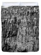 Rock Side Bw #g8 Duvet Cover