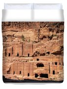 Rock Village In Petra Duvet Cover