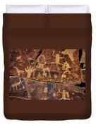 Rock Wall Of Petroglyphs Duvet Cover