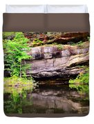 Rock Wall Reflections Duvet Cover