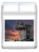 Rock Wallpaper Duvet Cover
