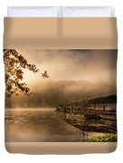 Rockaway Beach Dock 2 Duvet Cover
