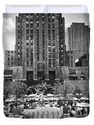 Rockefeller Center Plaza Duvet Cover