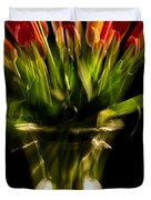 Rocket Propelled Tulips Duvet Cover