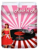 Rock'n Roll The Sweet Fifties Duvet Cover