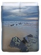 Rocks And Barnacles, Plum Island Duvet Cover