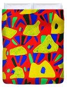 Rocks And Flowers Duvet Cover