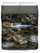 Rocks And Little Water Duvet Cover