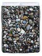 Rocks And Sticks On The Beach Duvet Cover