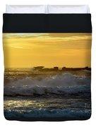 Rocks At Palm Beach At Sunrise Duvet Cover