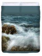 Rocks Awash Duvet Cover