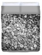 Rocks From Beaches In Black And White Duvet Cover