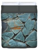Rocks In A Wall Duvet Cover