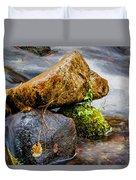 Rocks In The Creek Duvet Cover