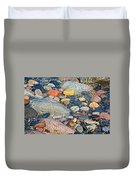 Rocks Of Many Colors On Lake Superior Shoreline In Pictured Rocks National  Duvet Cover