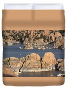 Rocks Of Watson Lake  Duvet Cover
