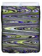 Rocks On Beach Abstract Duvet Cover