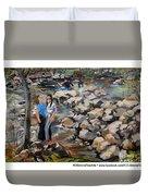 Rocks On The Brandywine Duvet Cover