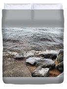 Rocks On The Chesapeake Duvet Cover