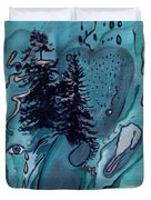Rocksntrees Abstract Duvet Cover