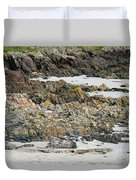Rocky And Sandy Beach Duvet Cover