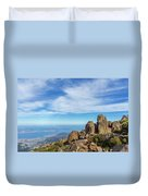rocky Australian mountain summit Duvet Cover