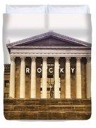 Rocky Balboa On The Art Museum Steps Duvet Cover