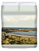 Rocky Coast Bench Duvet Cover