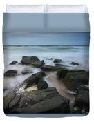 Rocky Coast Of New Jersey Duvet Cover