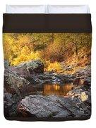 Rocky Creek II On Mill Mountain In The Missouri Ozarks Duvet Cover