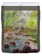 Rocky Creek In The Catskills  Duvet Cover