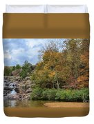 Rocky Falls In The Fall Duvet Cover